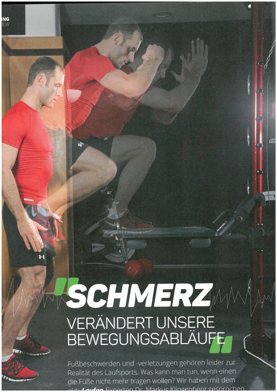 COVER - Schmerz verändert unsere Bewegungsabläufe